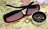 Glasses On Map