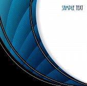 Abstract Brochure With Blue Waves