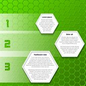 Cool Green Infographic Design With Hexagons