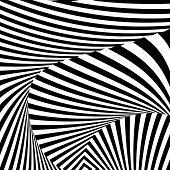 Design Monochrome Convex Movement Illusion Background
