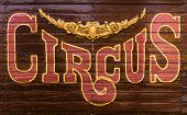 Circus Wagon Sign