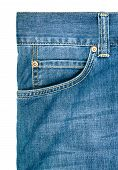 Jeans Pocket. Background Of Denim Texture
