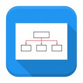 Paper With Scheme App Icon With Long Shadow