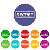 Secret flat icon