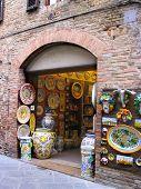 Ceramic Shop in Italy