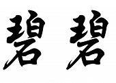 English Name Bibi In Chinese Calligraphy Characters