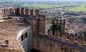 Scaligero Castle on Tenda Hill in Soave, Veneto, Italy