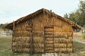 Hut Made Of Nipa Palm Leaves
