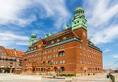 stock photo of old post office  - Central post office of Malmo  - JPG