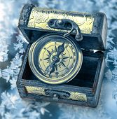 Vintage Compass In Box