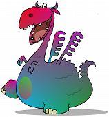 Colorful cartoon dragon