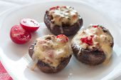 Stuffed Mushrooms With Cheese.