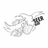 Beer bar illustration