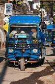 Auto Rickshaw Or Tuk-tuk On Public Stop On The Street