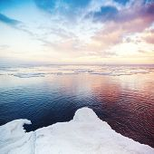 Winter Coastal Landscape With Snow And Ice
