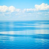 Square Seascape With Blue Water And Sky
