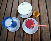 Breakfast With Coffee, Fresh Juice, Yoghurt