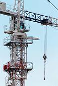 White Construction Crane