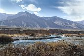 Indus Mountain River In The Himalayas