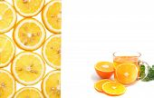 Orange Tea With Parsley And Orange Slice, Food Background