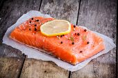 Fillet Of Fresh Salmon With Pepper And Lemon