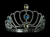 picture of tiara  - silver tiara isolated on the black background - JPG