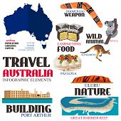 Infographic Elements For Traveling To Australia