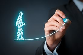 image of self-employment  - Personal development and career growth concepts - JPG