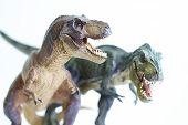 foto of pacific rim  - shooting closeup dinosaur model on white background - JPG