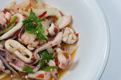 picture of squid  - spicy squid salad hot and sour thai food - JPG
