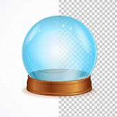 stock photo of witchcraft  - Vector Illustration empty blue crystal ball isolated on a white background - JPG
