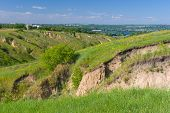 picture of dnepropetrovsk  - Summer landscape near Dnepr river in Dnepropetrovsk city area Ukraine - JPG