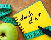 image of dash  - Notepad with dash diet - JPG