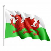 Flag of Wales. Vector.