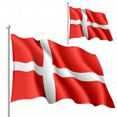 Flag of Denmark. Vector.