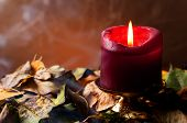 Autumnal Still Life. Candle