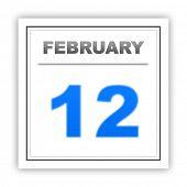 stock photo of february  - February 12 - JPG
