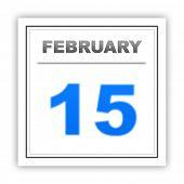 stock photo of february  - February 15 - JPG