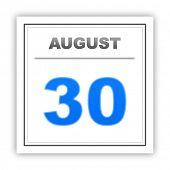 stock photo of august calendar  - August 30 - JPG