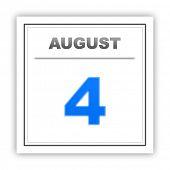 pic of august calendar  - August 4 - JPG