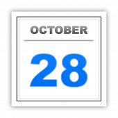 stock photo of october  - October 28 - JPG