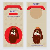 image of ladybug  - Party Design template with dog and ladybug vector illustration - JPG