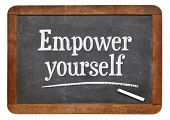 picture of empower  - Empower yourself motivational phrase  - JPG