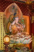 pic of gold tooth  - The Lord Buddha in Chinese Buddha Tooth Relic Temple in Chinatown of Singapore - JPG