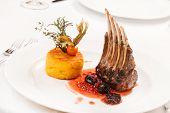 image of lamb chops  - Roasted Lamb Chops - JPG