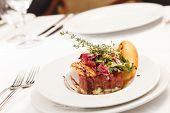 foto of tartar  - beef tartar - JPG