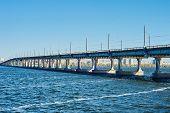 stock photo of dnepropetrovsk  - Bridge over the river in Dnepropetrovsk Dnieper - JPG