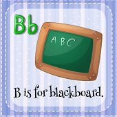 picture of letter b  - Flashcard letter B is for blackboard - JPG