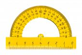 picture of protractor  - Protractor ruler isolated on white background - JPG