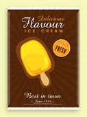stock photo of ice cream parlor  - Stylish vintage menu card for Sweet Ice Cream - JPG